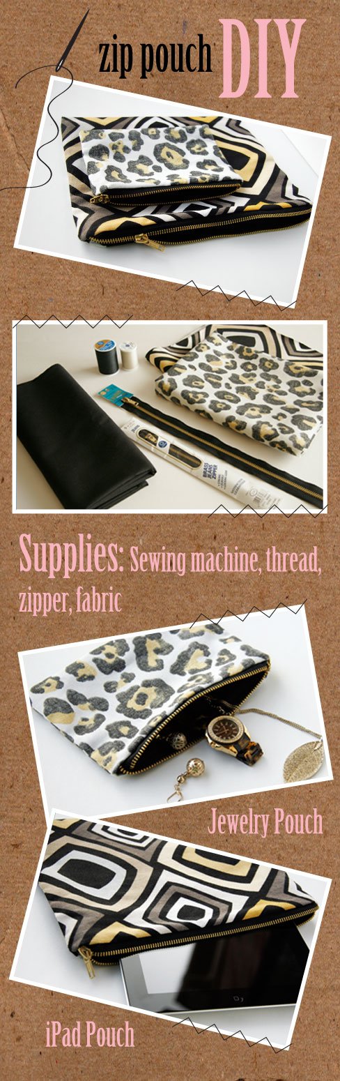 diy zip purse tutorial