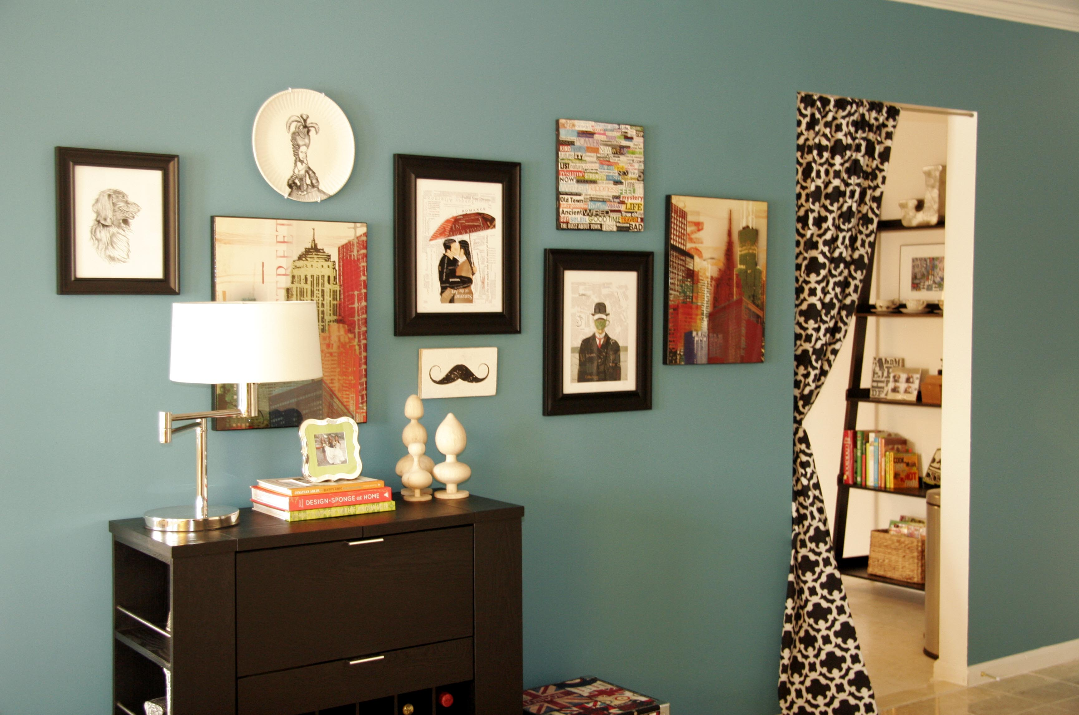 New entryway all put together - Apartment wall decorating ideas ...