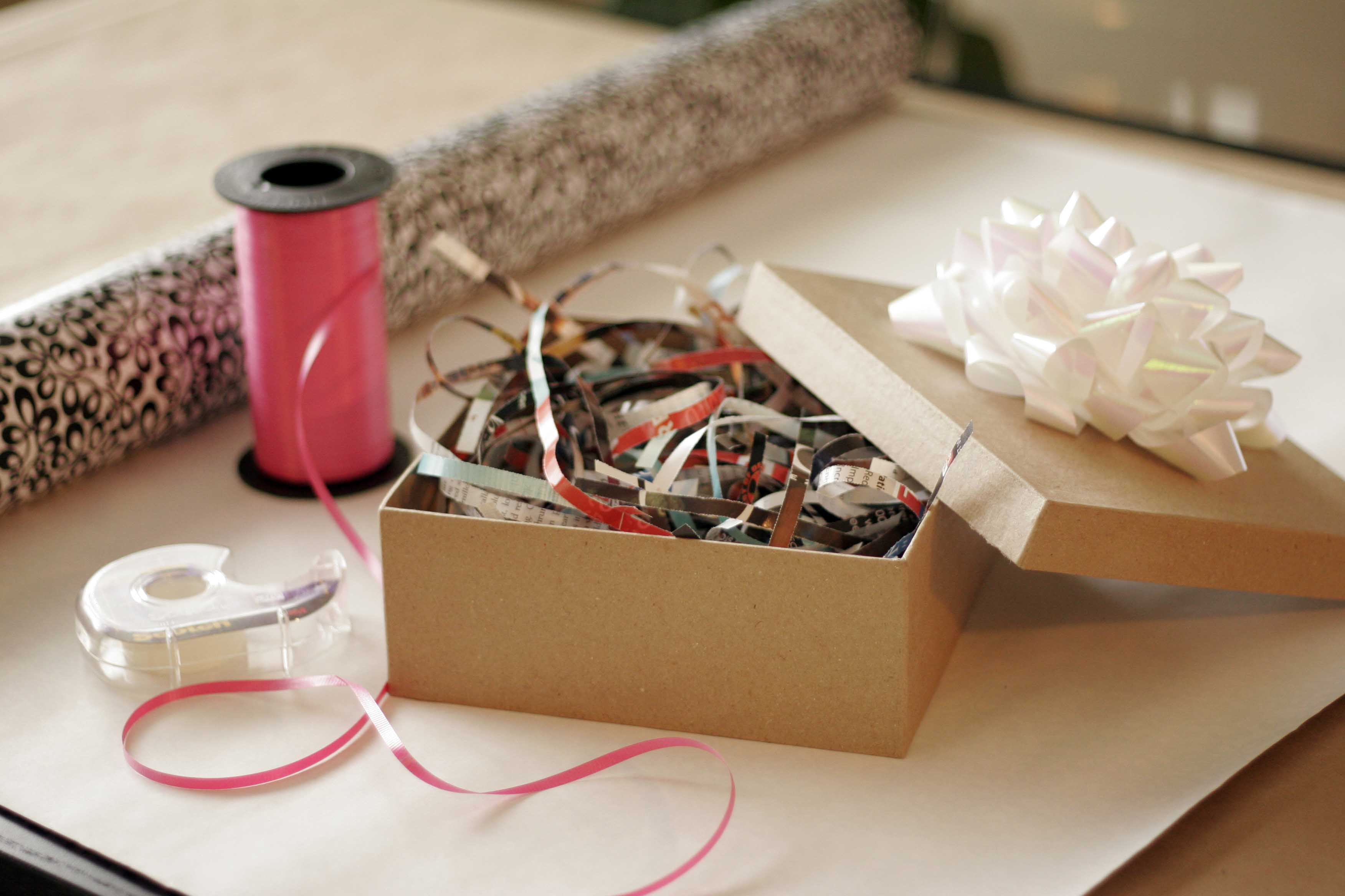 Decorating With Shredded Paper All Put Together