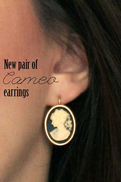 New Cameo Earrings