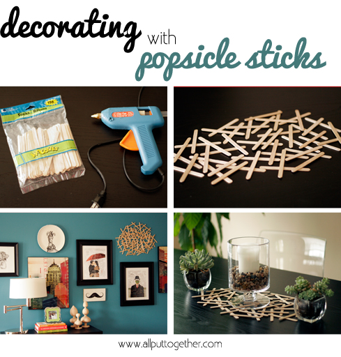 Decorating with Popsicle Sticks