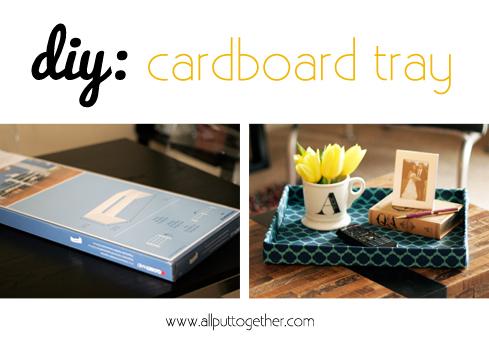 DIY Cardboard Tray