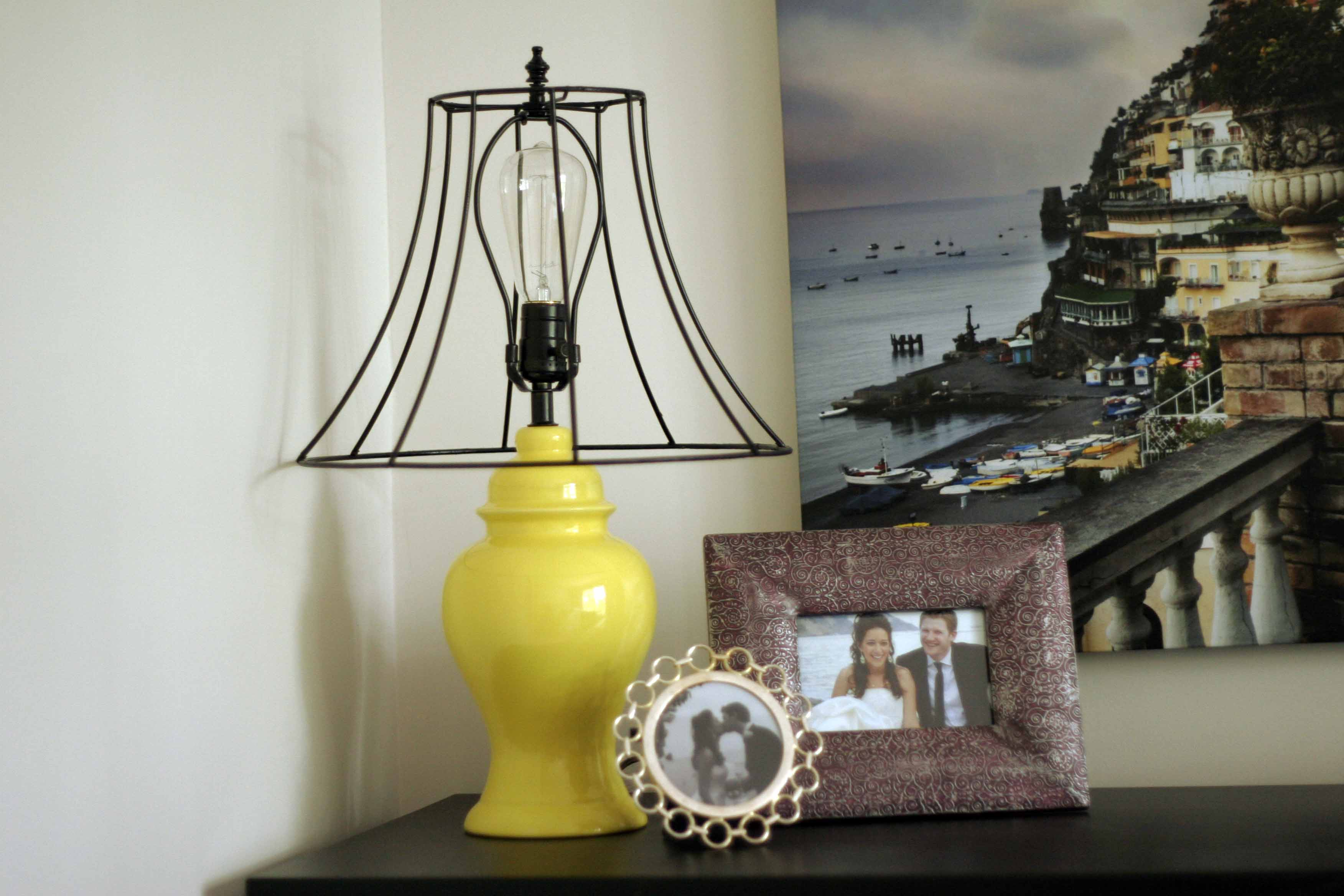 pin embossed market silver shade shades lamp world yellow table