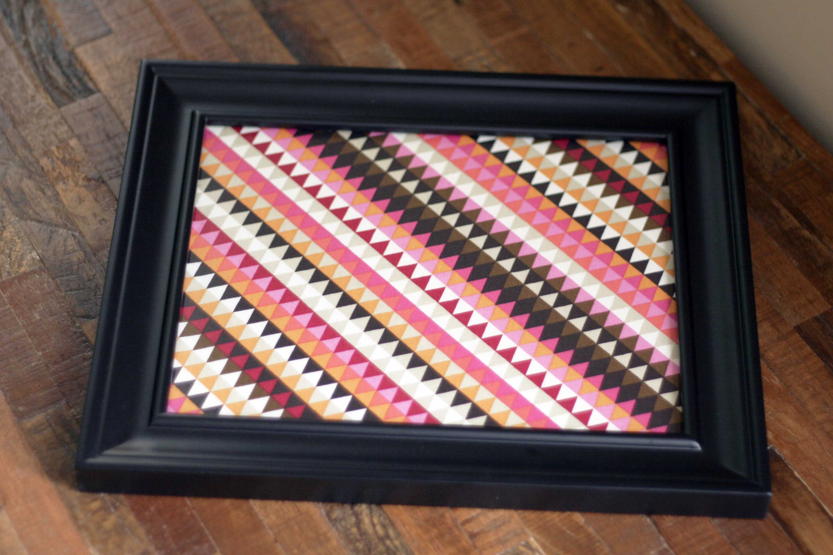 framing fabric is an incredibly easy diy project requiring just a few supplies