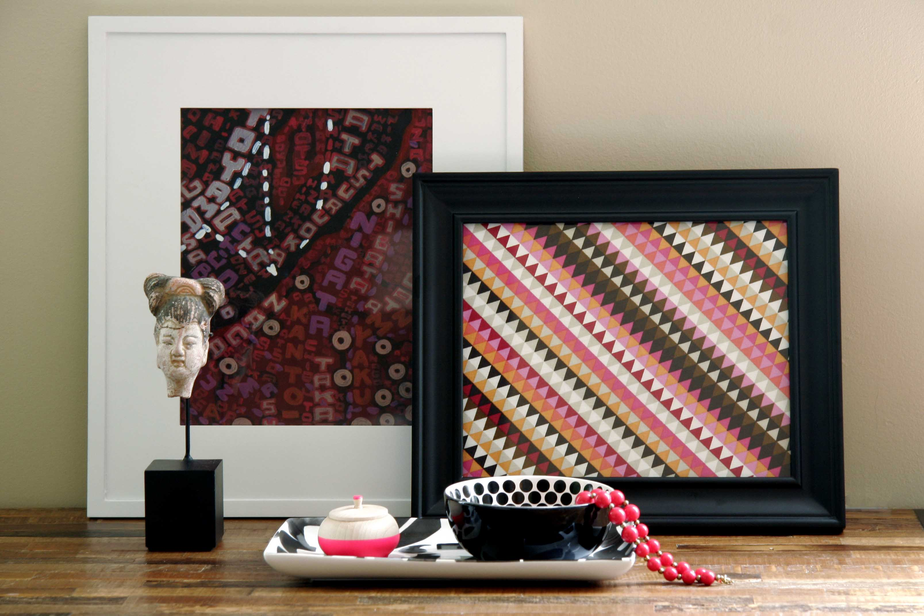 Fabric Wall Frames : Ditto diy challenge framing fabric all put together