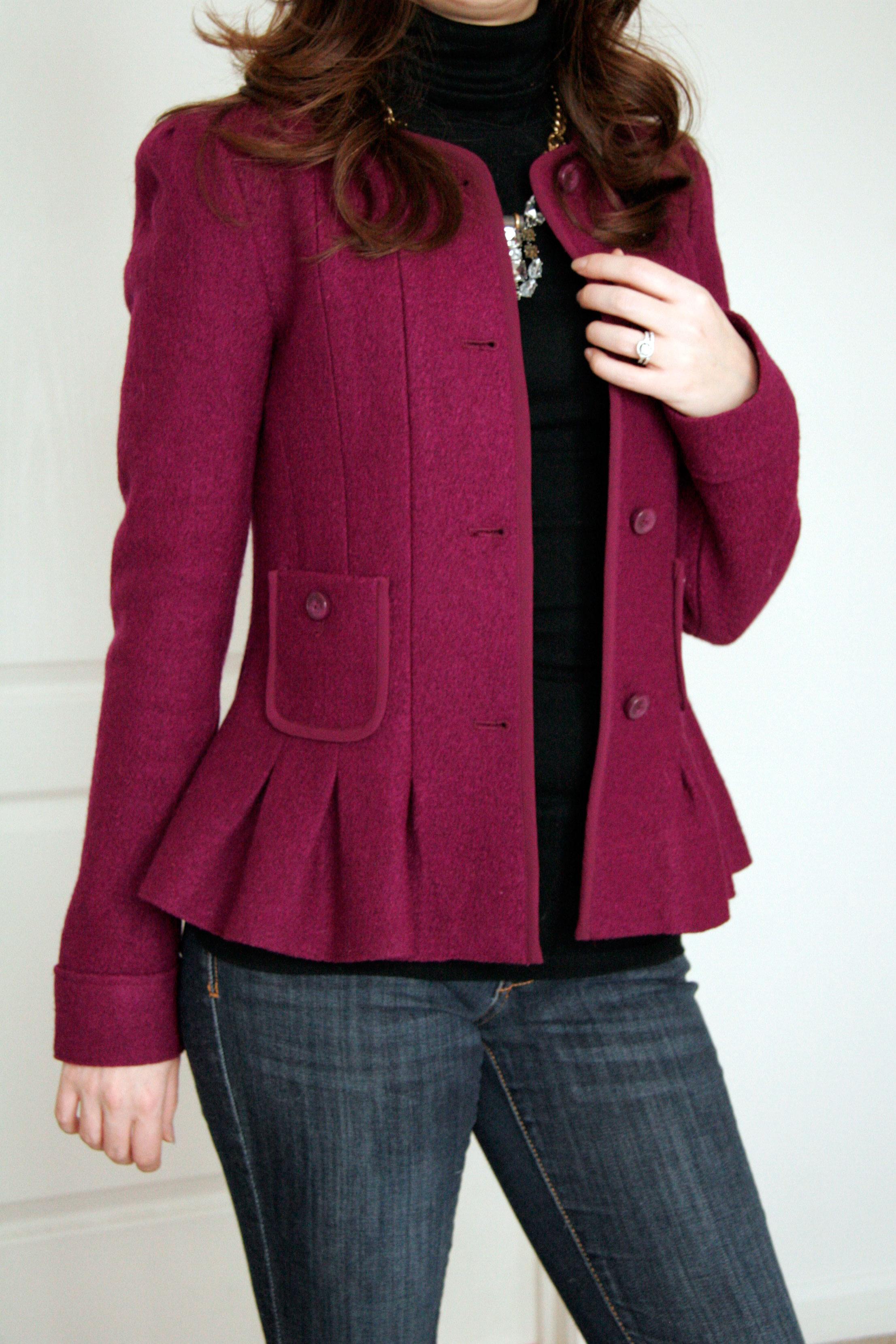styling my new favorite anthropologie peplum jacket all